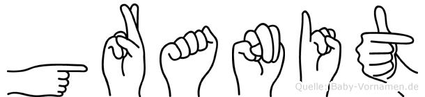 Granit in Fingersprache für Gehörlose