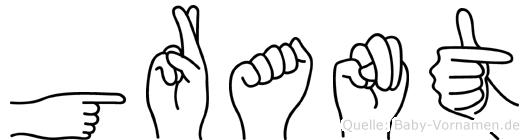Grant in Fingersprache für Gehörlose