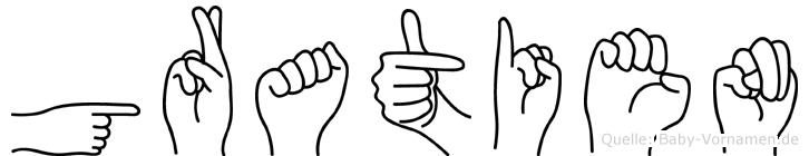 Gratien in Fingersprache für Gehörlose