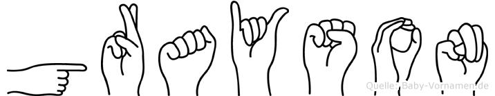 Grayson im Fingeralphabet der Deutschen Gebärdensprache