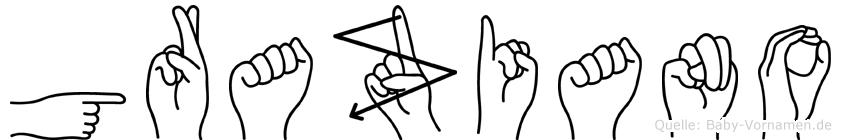 Graziano in Fingersprache für Gehörlose