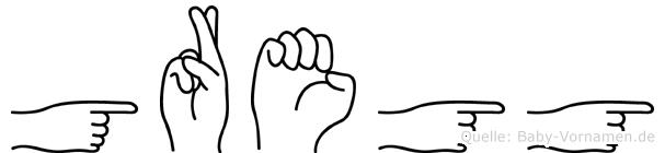 Gregg in Fingersprache für Gehörlose
