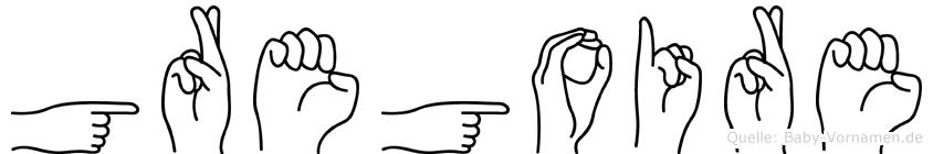 Gregoire im Fingeralphabet der Deutschen Gebärdensprache