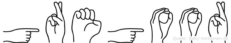 Gregoor in Fingersprache für Gehörlose