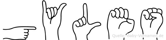 Gyles im Fingeralphabet der Deutschen Gebärdensprache