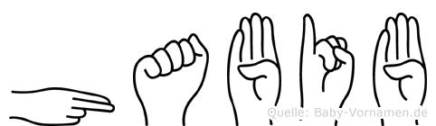 Habib im Fingeralphabet der Deutschen Gebärdensprache