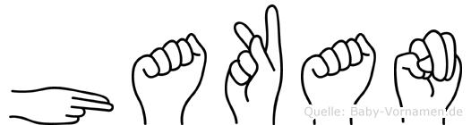 Hakan im Fingeralphabet der Deutschen Gebärdensprache