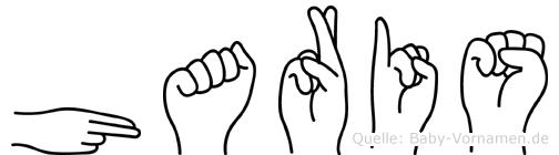 Haris im Fingeralphabet der Deutschen Gebärdensprache