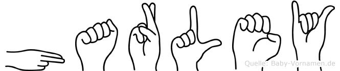 Harley im Fingeralphabet der Deutschen Gebärdensprache