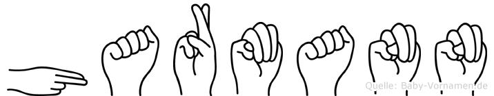 Harmann im Fingeralphabet der Deutschen Gebärdensprache
