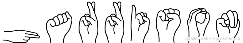 Harrison im Fingeralphabet der Deutschen Gebärdensprache