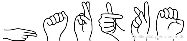 Hartke im Fingeralphabet der Deutschen Gebärdensprache