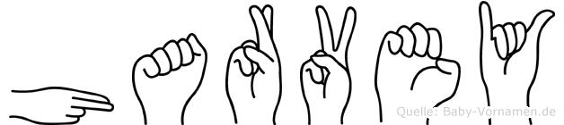 Harvey im Fingeralphabet der Deutschen Gebärdensprache