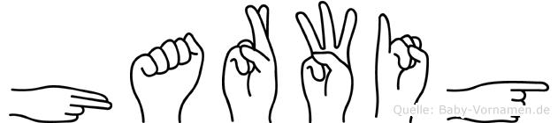 Harwig im Fingeralphabet der Deutschen Gebärdensprache