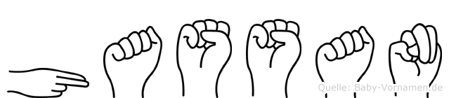 Hassan im Fingeralphabet der Deutschen Gebärdensprache
