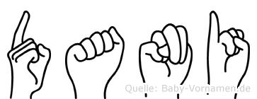Dani im Fingeralphabet der Deutschen Gebärdensprache