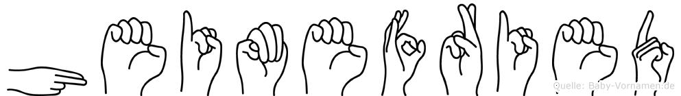 Heimefried im Fingeralphabet der Deutschen Gebärdensprache