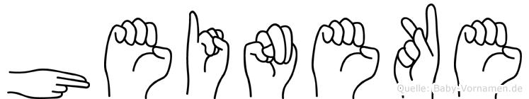 Heineke in Fingersprache für Gehörlose