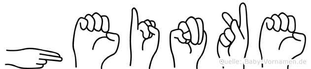 Heinke in Fingersprache für Gehörlose