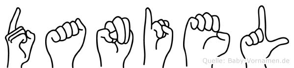 Daniel in Fingersprache für Gehörlose