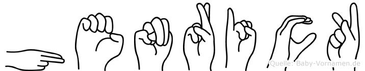 Henrick in Fingersprache für Gehörlose