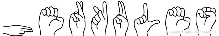 Herkules im Fingeralphabet der Deutschen Gebärdensprache