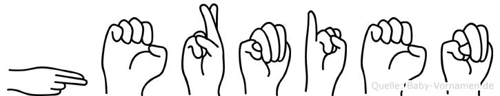 Hermien im Fingeralphabet der Deutschen Gebärdensprache