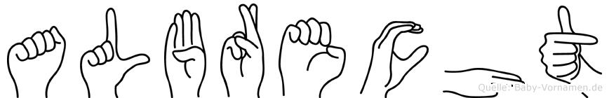 Albrecht in Fingersprache für Gehörlose