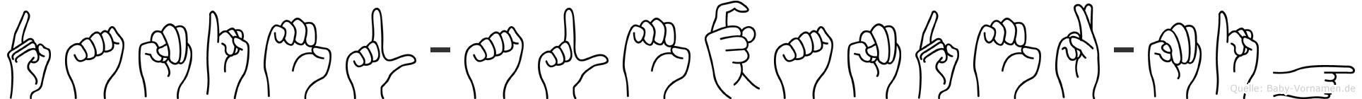 Daniel-Alexander-Mig im Fingeralphabet der Deutschen Gebärdensprache