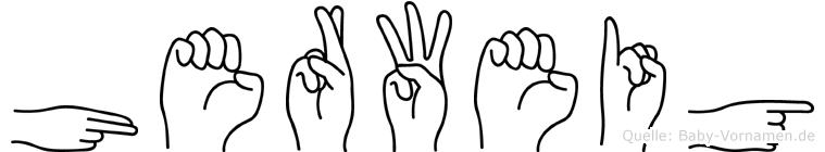 Herweig im Fingeralphabet der Deutschen Gebärdensprache