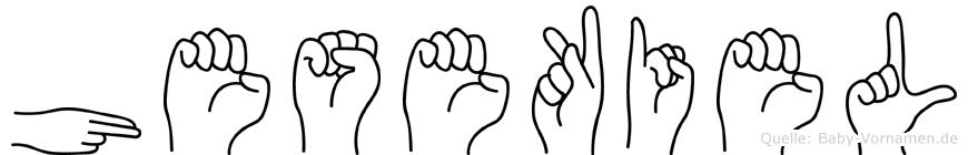 Hesekiel im Fingeralphabet der Deutschen Gebärdensprache