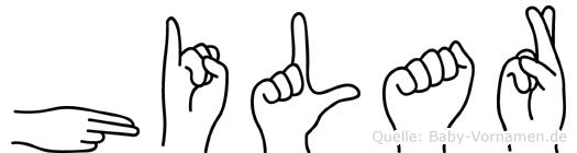 Hilar in Fingersprache für Gehörlose