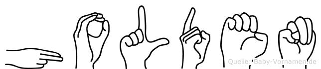 Holden in Fingersprache für Gehörlose