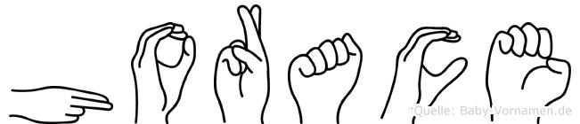 Horace in Fingersprache für Gehörlose