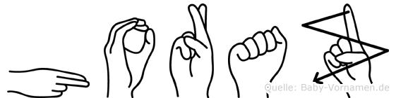 Horaz im Fingeralphabet der Deutschen Gebärdensprache