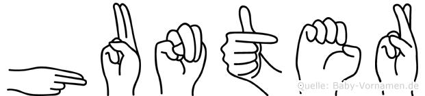 Hunter in Fingersprache für Gehörlose