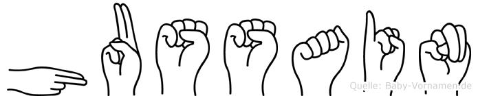 Hussain im Fingeralphabet der Deutschen Gebärdensprache