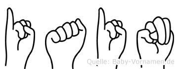 Iain in Fingersprache für Gehörlose