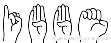 Ibbe in Fingersprache für Gehörlose