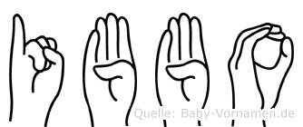 Ibbo in Fingersprache für Gehörlose