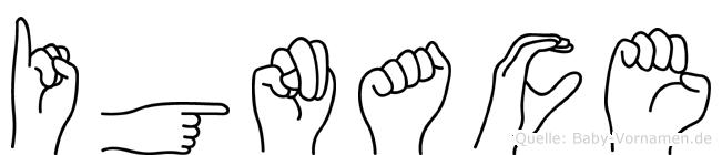 Ignace in Fingersprache für Gehörlose