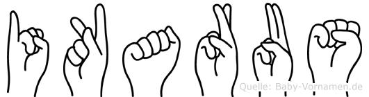 Ikarus im Fingeralphabet der Deutschen Gebärdensprache