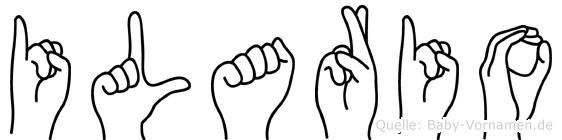 Ilario im Fingeralphabet der Deutschen Gebärdensprache