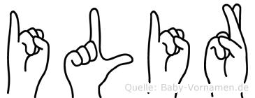 Ilir im Fingeralphabet der Deutschen Gebärdensprache