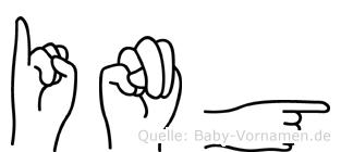Ing im Fingeralphabet der Deutschen Gebärdensprache
