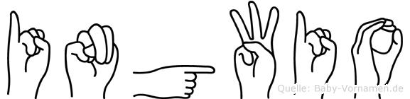 Ingwio im Fingeralphabet der Deutschen Gebärdensprache