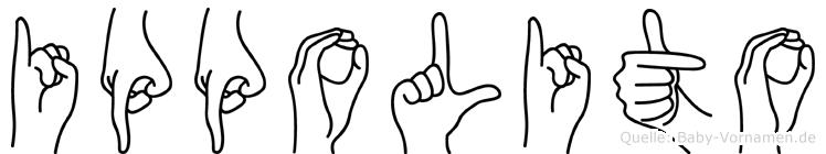 Ippolito im Fingeralphabet der Deutschen Gebärdensprache