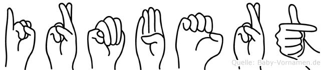 Irmbert im Fingeralphabet der Deutschen Gebärdensprache