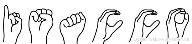 Isacco im Fingeralphabet der Deutschen Gebärdensprache