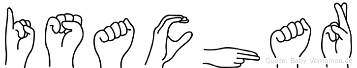 Isachar im Fingeralphabet der Deutschen Gebärdensprache